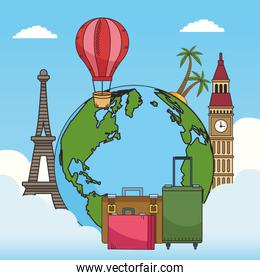 travel around the world with planet