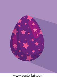cute egg easter with stars decoration