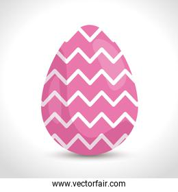 cute egg easter with geometric lines decorated