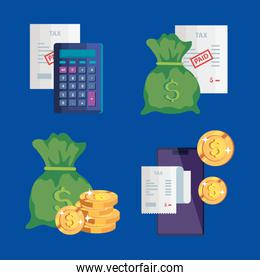 set of tax day icons