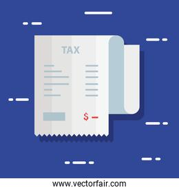 tax day poster with voucher paper