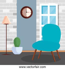 living room home place with chair
