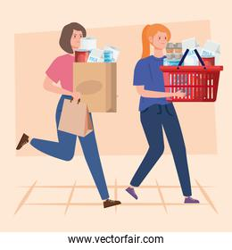 women buying in overstocking by covid 19
