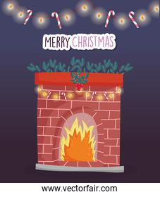 merry christmas celebration chimney fire lights candy canes