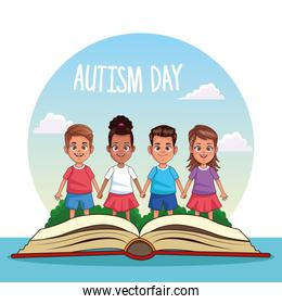 world autism day with kids and books