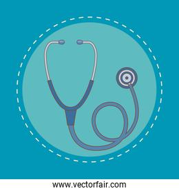 stethoscope cardio device isolated icon