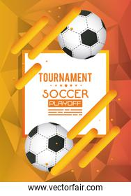 soccer sport poster with balloons