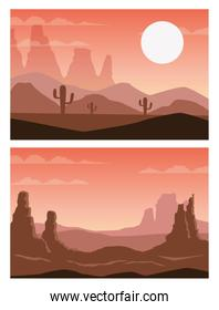 beautiful landscapes with desert scenes