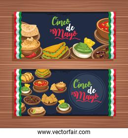 cinco de mayo celebration with set food
