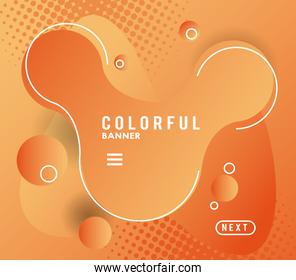 colorful banner liquid background icon