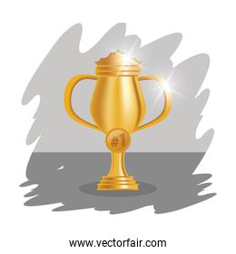golden trophy cup award icon