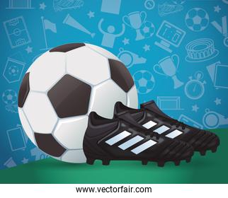 soccer sport balloon with shoes
