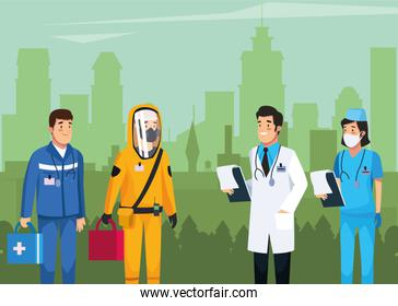 medical staff team work characters