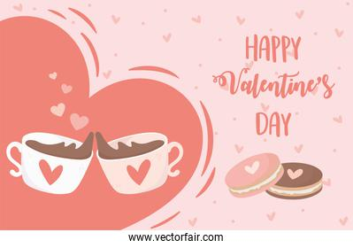 happy valentines day chocolate cups cookies hearts