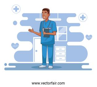 professional surgeon doctor avatar character