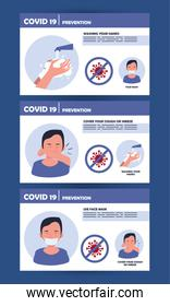 covid19 pandemic prevention methods poster