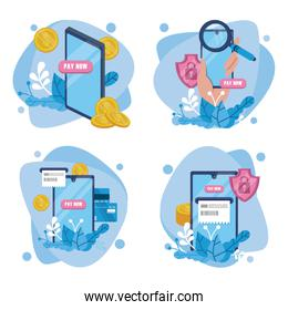 payment online technology with smartphones