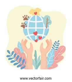 volunteering, help charity hands world love environment animals clothes