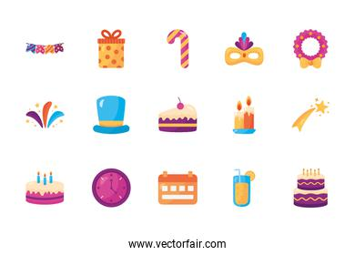 bundle of party celebration icons
