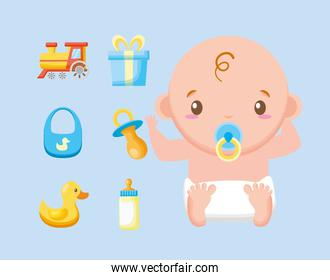 bundle of cute boy and baby accessories