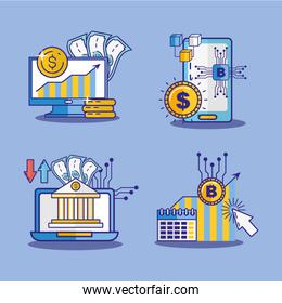 financial technology with electronic devices
