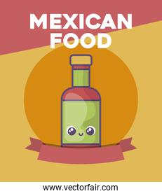 card with Mexican food label
