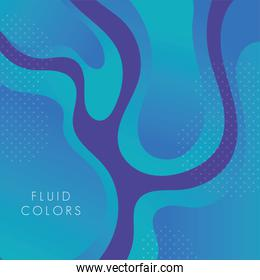 blue paint fluid colors background
