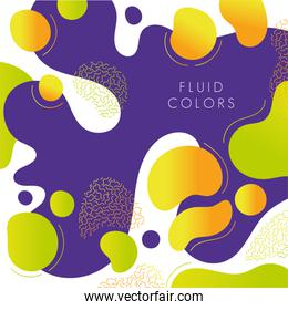 purple and yellow paint fluid colors background