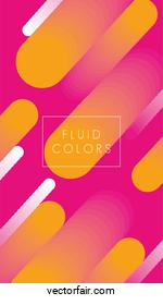 yellow and pink paint fluid colors background