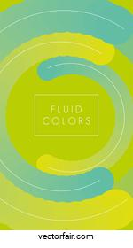 green and blue paint fluid colors background