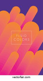 orange paint fluid colors background