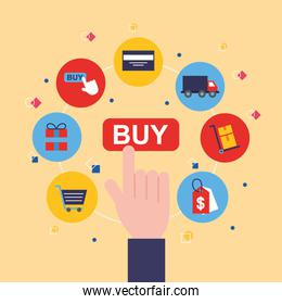 bundle of shopping online technology