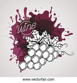 wine house poster with grapes fruits