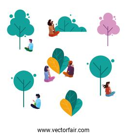 People avatars vector design