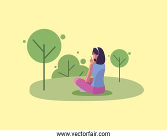 avatar woman person vector design