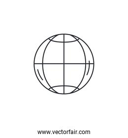 Isolated global sphere icon vector design