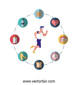 Man running vector design