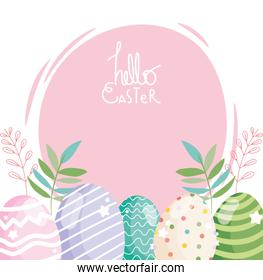 happy easter decorative eggs ornament season