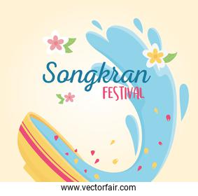 songkran festival of water in thailand event celebration