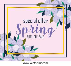 spring sale, special offer off season frame flowers decoraation
