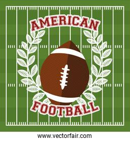 american football sport poster with balloon