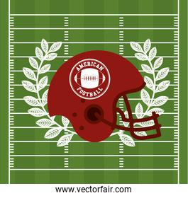 american football sport poster with helmet