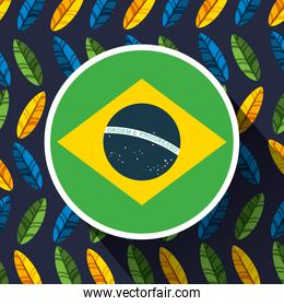 canival of rio brazilian celebration with flag