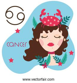 beautiful woman with cancer zodiac sign