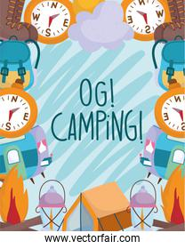 camping vacations travel activity adventure poster background