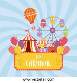 fun fair carnival ferris wheel tent booth air balloon recreation entertainment