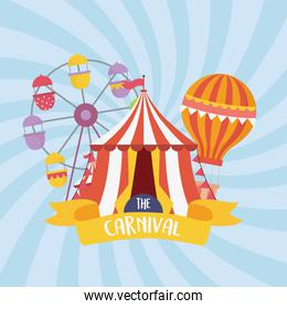 fun fair carnival ferris wheel tent air balloon recreation entertainment