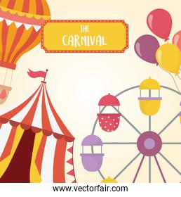 fun fair carnival ferris wheel tent balloons air balloon recreation entertainment
