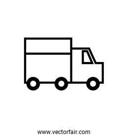 delivery truck vehicle isolated icon