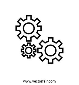machine gears assembly piece icon
